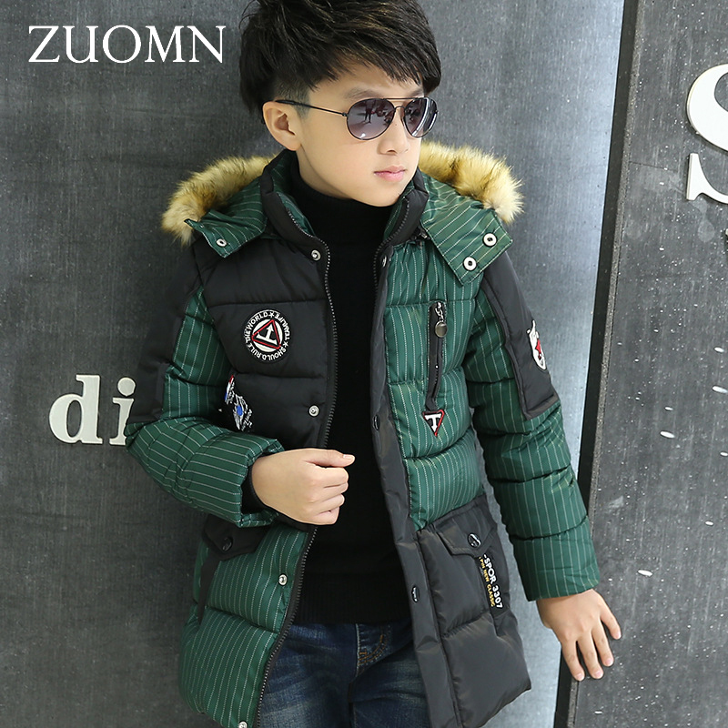 ФОТО New Winter Jackets For Boys Fashion Boy Thicken Snowsuit Children Down Coats Outerwear Warm Tops Clothes Big Kids Clothing GH238