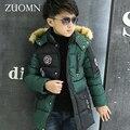 Novos Casacos de Inverno Para Meninos Moda Menino Engrossar Crianças Snowsuit Down Coats Casacos Quentes Tops Roupas Crianças Grandes Roupas GH238