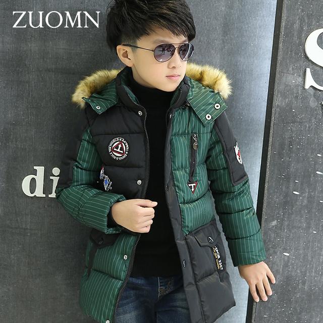 Nuevas Chaquetas de Invierno Para Niños Fashion Boy Espesar traje para la Nieve Niños Down Abrigos Abrigos Caliente Tops Ropa de Niños Grandes Ropa GH238