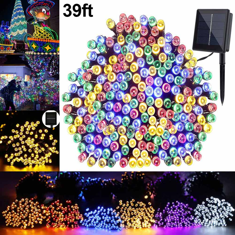 39ft Solar Light Strings Outdoor Waterproof Christmas Lamp For Home Lawn Garden Party Festival Decoration CLH@8