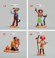 High Quality Pvc Figure Genuine Simulation Model Toy Medieval Soldier Modern Farm Series Indigenous People Series