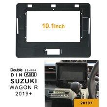 2Din 1DIN Автомобильный CD DVD рамка аудиоадаптер тире отделка Лицевая панель 10,1 дюймов для Suzuki Wagon R+ Двухканальное радио плеер
