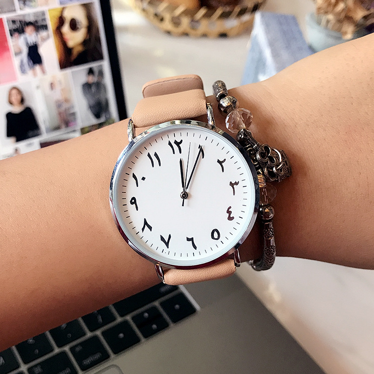 New Creative Numbers Women Watch Men Luxury Leather Mesh Arabic Numeral Dress Wristwatch Ladies Clock Relogio Feminino LZ2265 arabic numeral ladies watch 2017