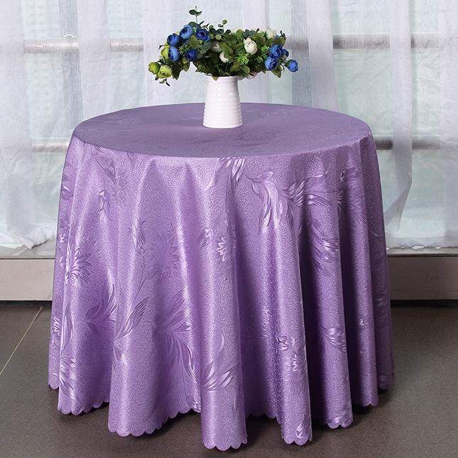 High Quality Solid Color Jacquard Tablecloth Elegant Design Home Hotel And  Catering Wedding Round Table Cloth Home Table In Tablecloths From Home U0026  Garden ...