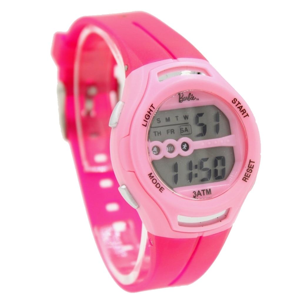 DW434D Chronograph Date Alarm Pink Bezel Water Resist Ladies Women Digital Watch