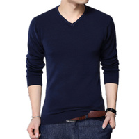 Euro Size 2017 New Autumn Winter Christmas Sweater Men V Neck Wool Pullovers Men's Kintwear Male Sweaters Pull Homme