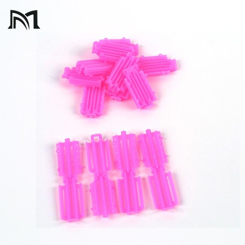 Купить с кэшбэком 45pcs/ Bag Hair Clips & Pins Pink Hair Clips For Girls Wave Perm Rod Corn Curler Maker DIY Beauty Hairdressing Styling Tools A8