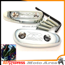 Aftermarket Free Shipping Motorcycle Parts Mirror Block Off Base Plates For Suzu GSXR 600 750 1000