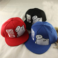 1 Piece Movie Big Hero 6 Baymax Cosplay Snapback Hat Adjustable Embroidery Baseball Cap 3 Colors for Children