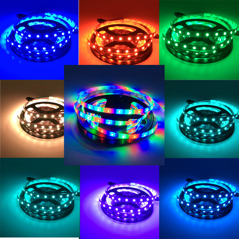 RGB Conductive Strips 5M 300Led 3528 SMD IP65 + 24 Key Infrared Remote Control Flexible Light LED 12 V DC Home Lamp