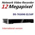 Em estoque Original Versão Inglês NVR DS-7616NI-I2 HiK/16 P 2 SATA Interfaces 16PoE NVR para Câmera HD CCTC Atualização suporte H.265