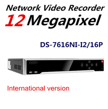 In stock Original HiK English Version NVR DS-7616NI-I2/16P 2SATA 16PoE Interfaces NVR for HD CCTC Camera Support Upgrade H.265