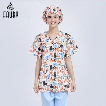 Anno Imprimió La Ropa Médica Camisetas Pantalones Enfermera
