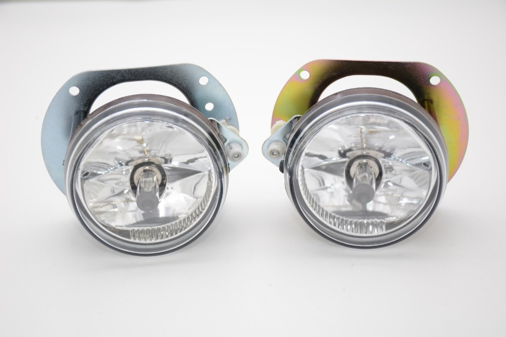2 Pcs/Pair Car styling front fog lights lamps for Mercedes Benz C-Class W204 2006-2011 1 pcs right side 2048202256 front fog lamp with bulb bumper light for mercedes benz c class w204 2006 2011