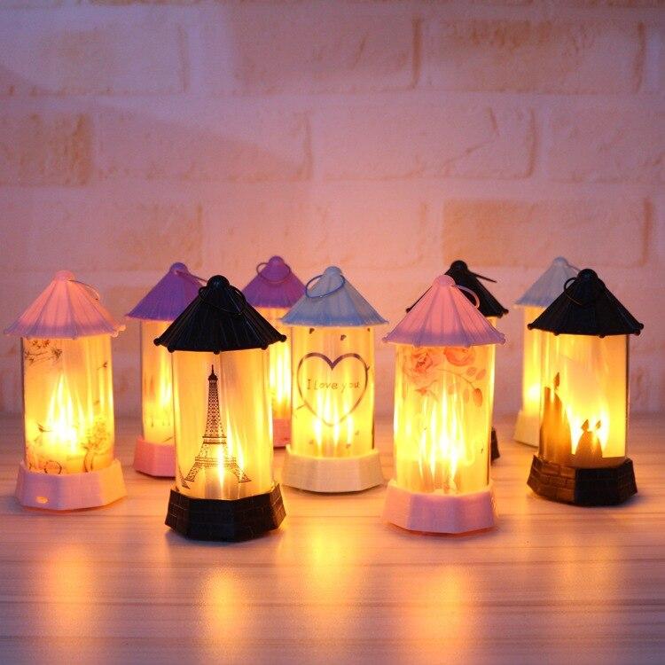 2019 nouveau LED Simulation flamme lumière nuit décoration intérieure fête lampe Halloween cadeaux noël chambre Constellation lampe