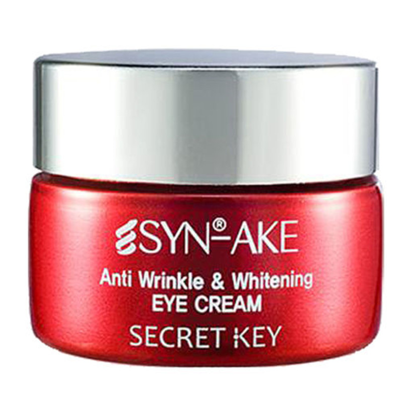 SECRET KEY Synake Anti Wrinkle Whitening Eye Cream 15g Instantly Ageless Dark Circle Anti-Puffiness Smooth Wrinkle Firming Cream