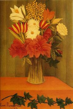 High quality Oil painting Canvas Reproductions Vase of Flowers (1901-1902) by Henri Rousseau painting hand painted