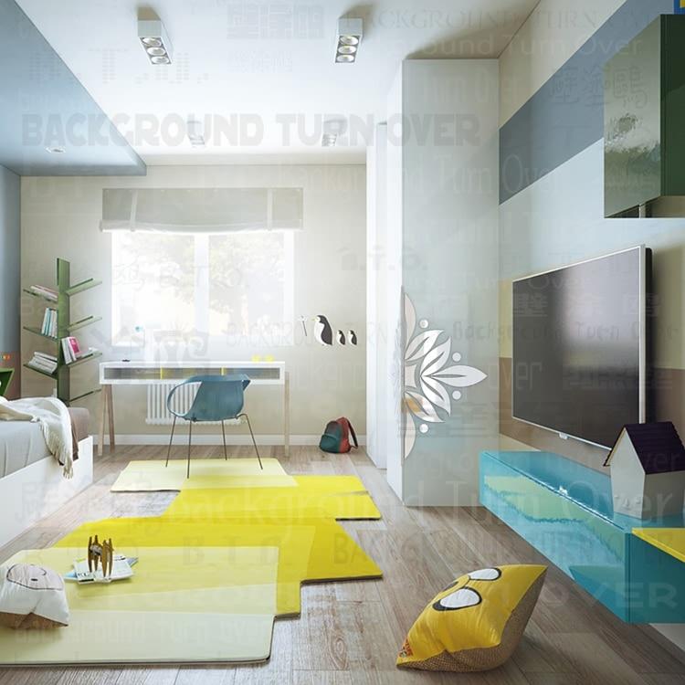 Fleur fleurs motif décoratif mur coin protecteurs 3d miroir Stickers muraux salon chambre décoration coin garde C020 - 3