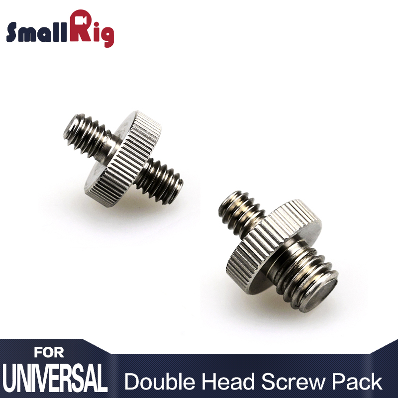 SmallRig Double Head Converter Screw Pack 1/4 inch to 1/4 inch Screw & 1/4 inch to 3/8 inch Threaded Screw Adapter - 1581SmallRig Double Head Converter Screw Pack 1/4 inch to 1/4 inch Screw & 1/4 inch to 3/8 inch Threaded Screw Adapter - 1581