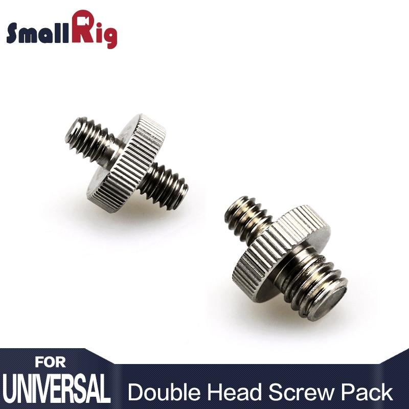 SmallRig Double Head Converter Screw Pack 1/4 inch to 1/4 inch Screw & 1/4 inch to 3/8 inch Threaded Screw Adapter - 1581 ka78r33 to 220f 4