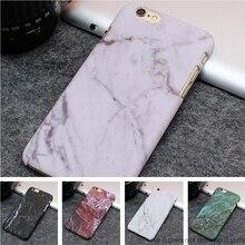 Venda quente da moda casos de telefone de mármore geada hard case pc para o iphone 7 6 6 S Plus 5 5S SE Stone texture Ultrafinos Tampa Traseira