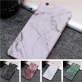 Venta caliente de mármol de moda cajas del teléfono frosting caso duro de la pc para el iphone 7 6 6 S Más 5 5S SÍ Ultrafino de Piedra textura de La Contraportada