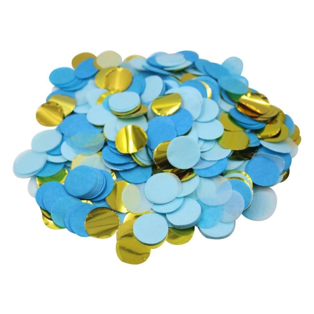 5000pieces Lot Metallic Gold Blue Paper Circles Birthday Party