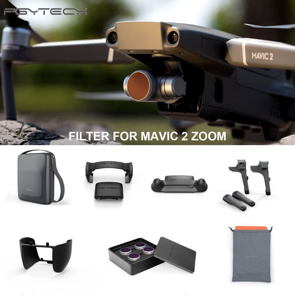 7 sortes/ensemble accessoires PGYTECH Combo pour DJI MAVIC 2 PRO (professionnel) train d'atterrissage hélice garde lentille filtre ND8/16/32 capot