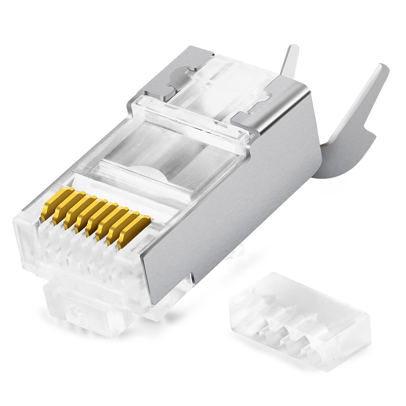 BELNET CAT7 FTP RJ45 Plug modulaire connector voor CAT7 afgeschermde ethernetkabel 23AWG 0.57mm 8P8C Netwerk Crimp Connector 2 stks