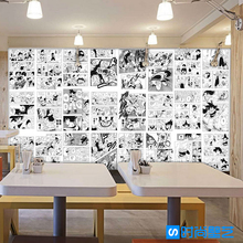 Free Shipping Japanese anime cartoon wallpaper KTV school amusement background dragon comic book poster wallpaper mural