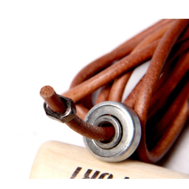 Visokokvalitetno drvo rukohvat kravlja koža skok konop profesionalna - Fitness i bodybuilding - Foto 5