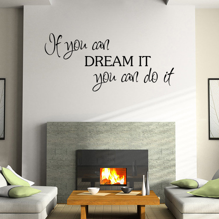 Inspirational Quotes Wall Sticker For Kids Room Home Decor