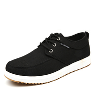 Men Breathable Soft Shoes Casual Lace Up Fashion Canvas Shoes Mens Black Blue Grey Comfortable Shoes