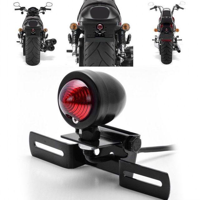 Universal Motorcycle Tail Brake Light License Plate Holder For most motorcycle models Harley Bobber Cafe Racer