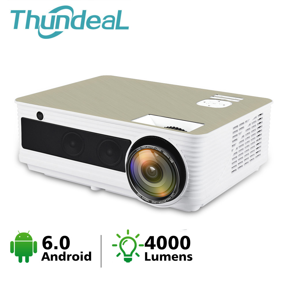 ThundeaL HD Android WiFi Projector M5W 4000 Lumen LED M5 Projector for Full HD Video Beamer Home Cinema 3D HDMI AC3 Proyector(China)