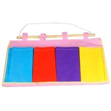 אחסון תיקי תלייה צבעוני וול דלת בד ארגון בית Pocket Case