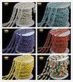5Meter Wire Wrapped Multicolor Beaded Chains Rosary Chain Beads Size 2mm Natural Glass Beaded Druzy Chains for women JD0144