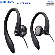 Original Philips SHS3305 Flexible Earhook Wired Earphone With Mic Stereo Bass Sweat Moisture Proof For Huawei Xiaomi Samsung(China)
