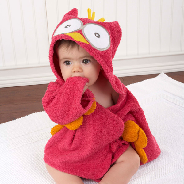 Розничная ; 16 дизайнов; детское банное полотенце с капюшоном; купальный халат с изображениями животных; детские пижамы с героями мультфильмов - Цвет: red owl