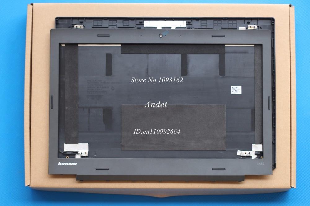 New Original for Lenovo Thinkpad L450 LCD Back Cover+Lcd Front Bezel Cover 00HT822 00HT826  цены онлайн