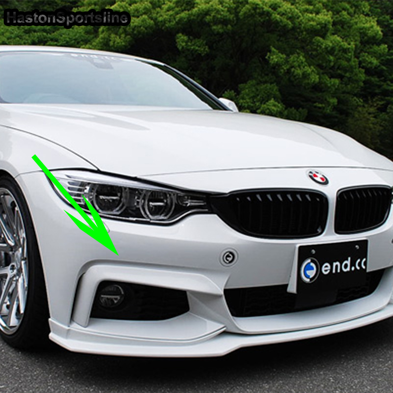 F32 F33 F36 FRP Primer Front Bumper Trim Fog Light Cover Fog Lamp Trim For BMW 2014 2015 2016 Only Mtech M Spotr