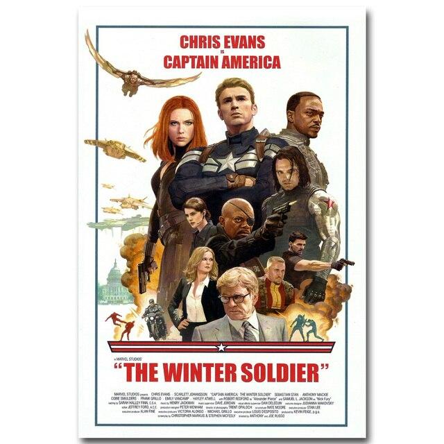 Плакат гобелен шелковый Капитан америка постер