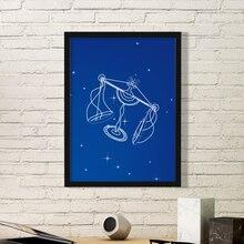Sagittarius Scorpio Virgo Star Universe Constellation Zodiac Simple Picture Frame Art Prints Paintings Home Wall Decal