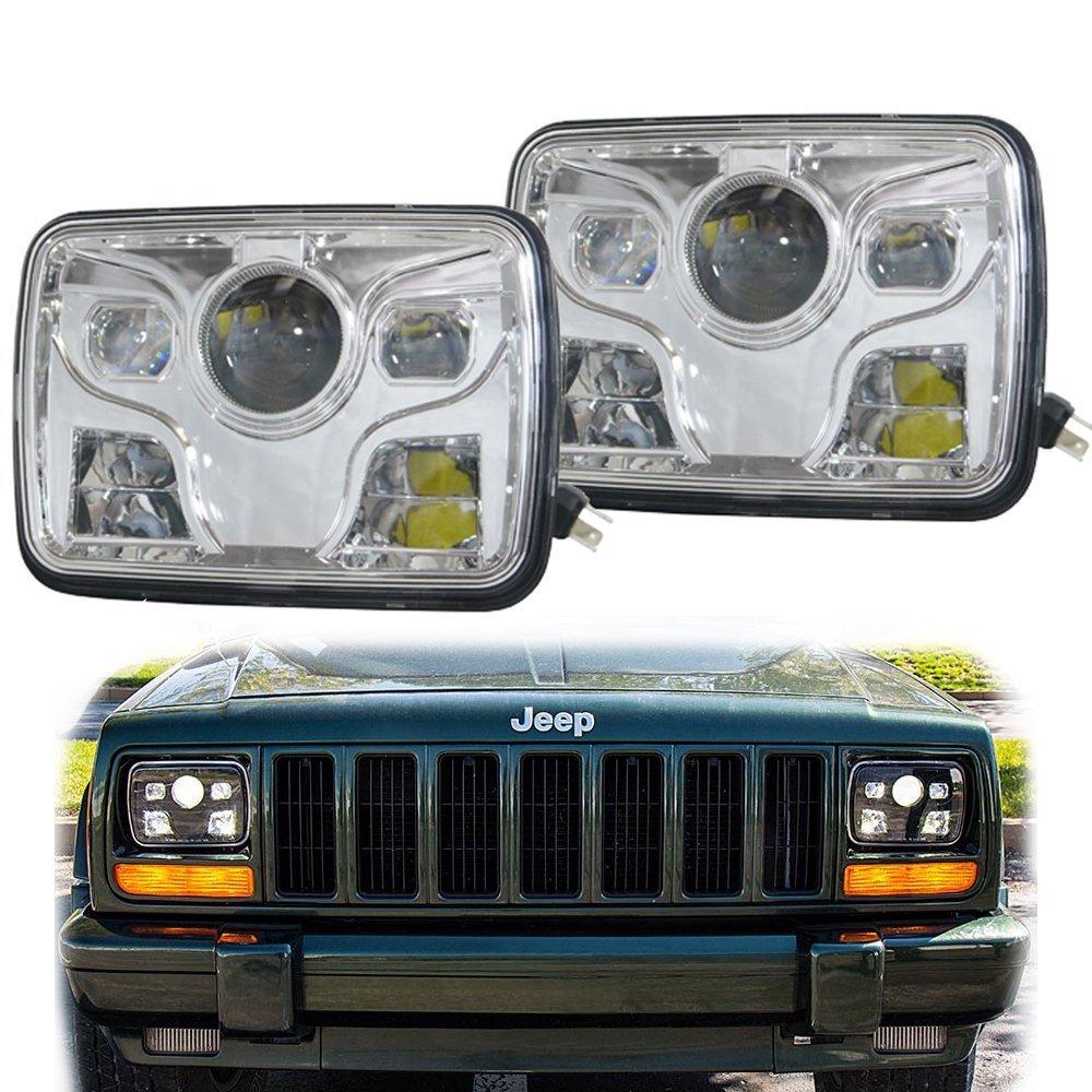 2X DOT 5x7 pouces MOTO phare LED haut/bas faisceau phare pour jeep Wrangler YJ Cherokee XJ camions 4X4 Offroad2X DOT 5x7 pouces MOTO phare LED haut/bas faisceau phare pour jeep Wrangler YJ Cherokee XJ camions 4X4 Offroad