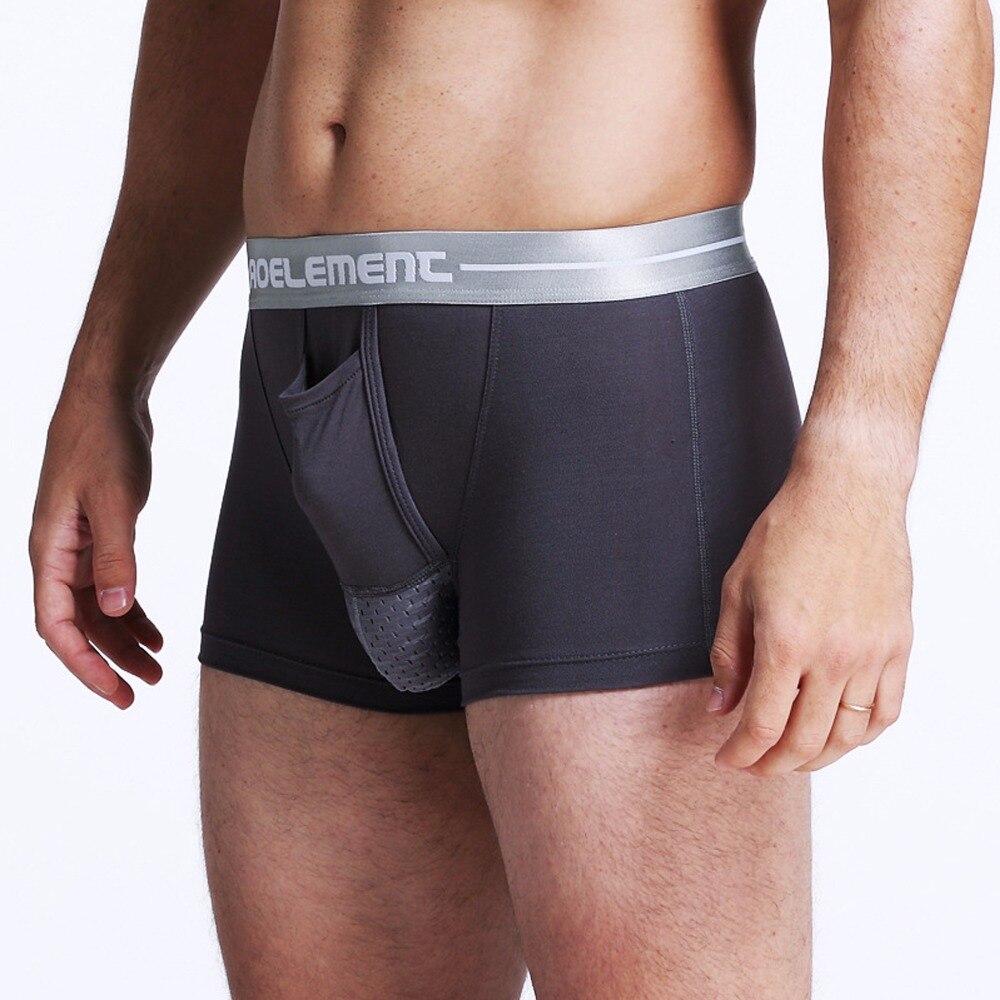 Wholesale Men's Modal Soft Men's Underwear Boxershort  Scrotum Care Capsule Function Youth Health Seoul Convex Separation Boxer