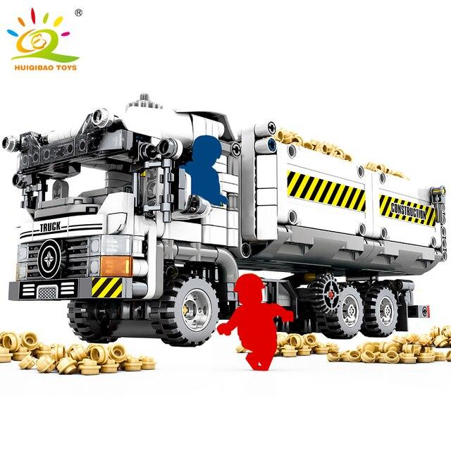 799 pcs Blocos de Construção Caminhão De Engenharia Técnica compatível Veículo Carro Tijolos DIY Brinquedos Educativos para Crianças Meninos