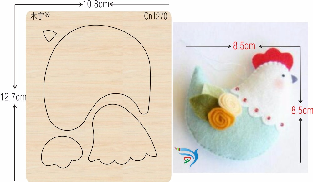 Cock sewing products new wooden mould cutting dies for scrapbooking Thickness 15 8mm