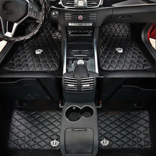 Car-Floor-Mats Interior-Accessories Auto-Carpet Universal Crown for Anti-Slip Girls Black