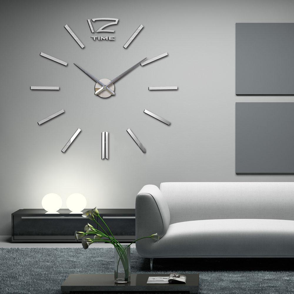 Arrival 3d home decor quartz diy wall clock large clocks horloge arrival 3d home decor quartz diy wall clock large clocks horloge watch living room metal acrylic mirror 20 inch in wall clocks from home garden on amipublicfo Choice Image