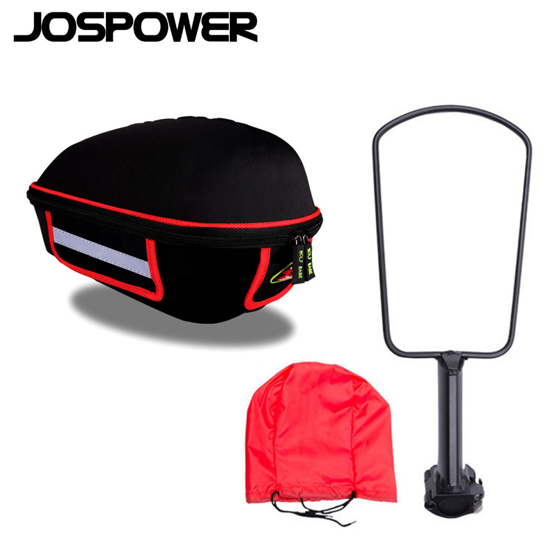 JOSPOWER Bicycle Saddle Seat Bag Hard Shell Wear-resistant Road Bike Bag Big Capacity Riding Bicycle Bag Accessory Tools Pouch